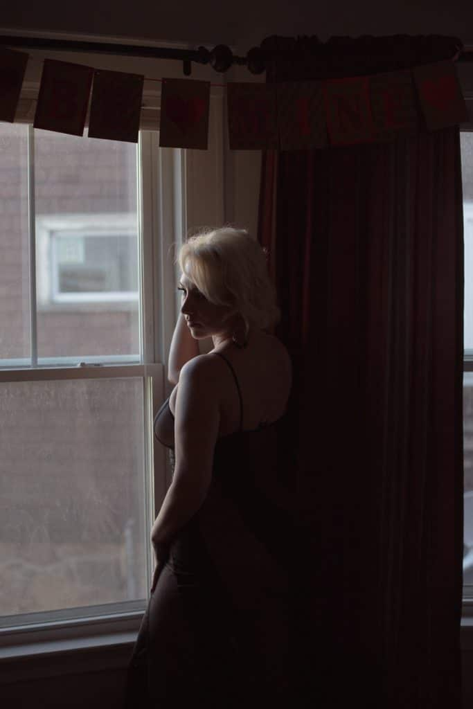 over 40 boudoir boston home portrait session