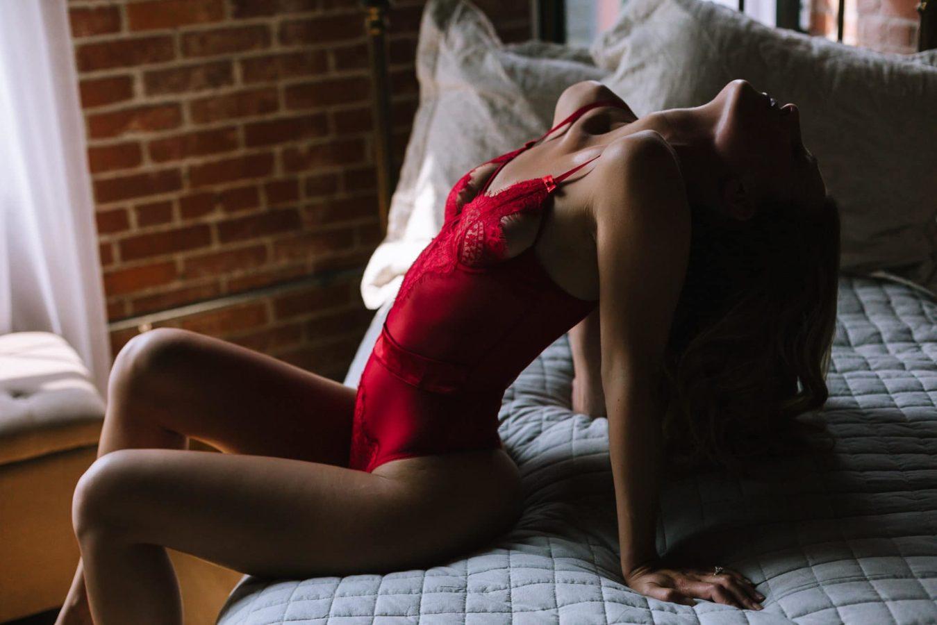 red lace teddy boston boudoir photos
