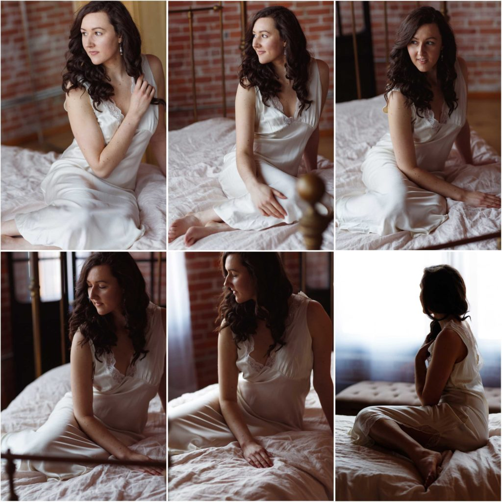Boston Boudoir Portraits Natural Window Light comparison chart