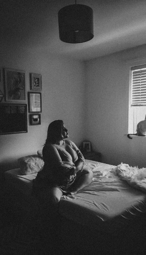 moody sensual black and white boudoir presets boston fine art portrait photographer