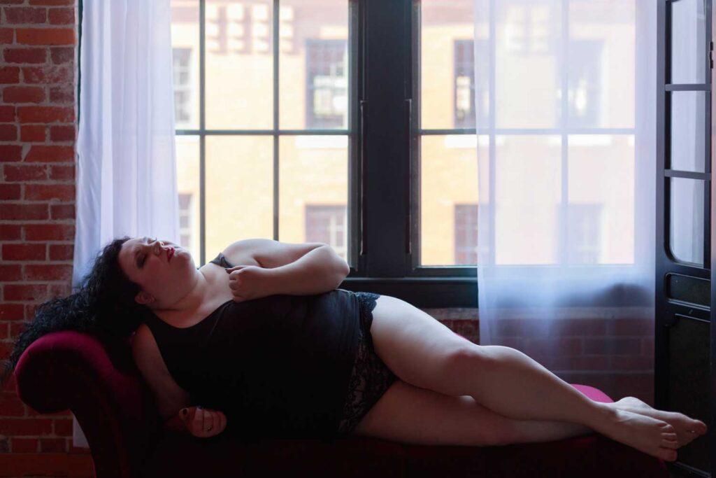 plus size boston boudoir photography