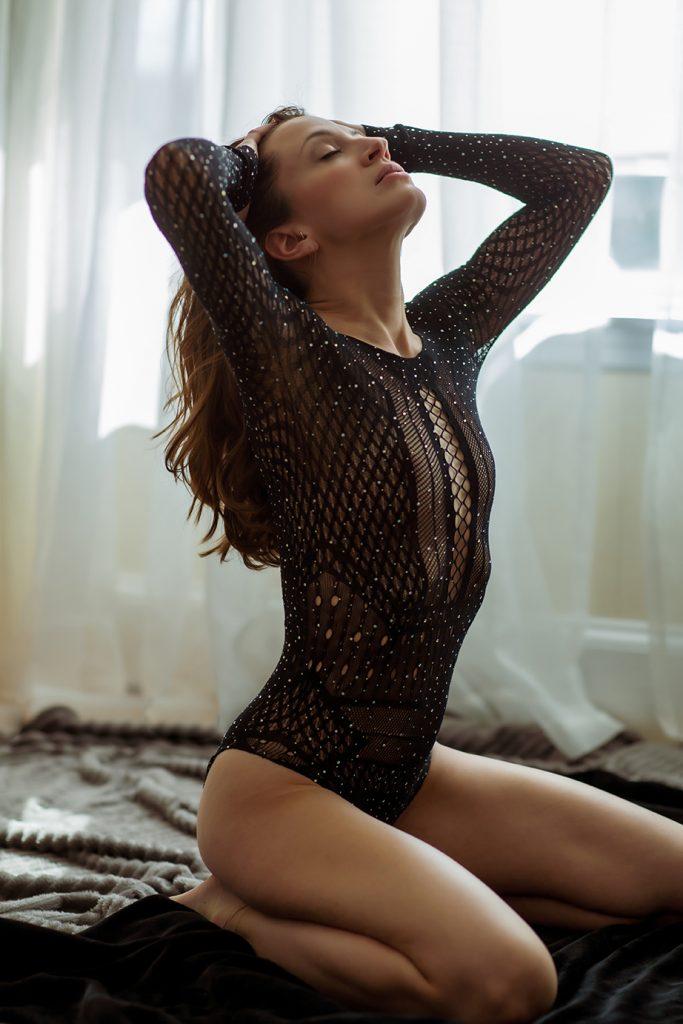 long sleeve sparkly black bodysuit body suit boudoir new england wardrobe ideas