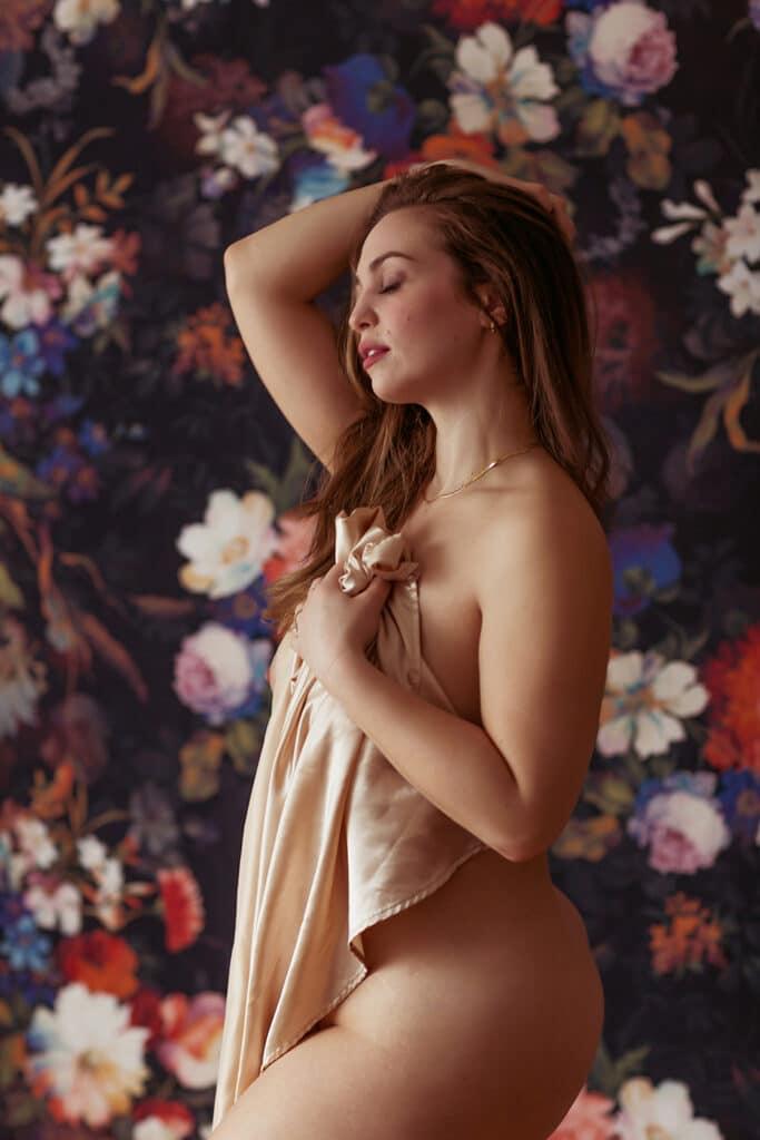 implied nude portrait photography boston